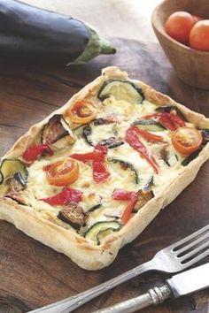 Tarta de verduras asadas y ricotta
