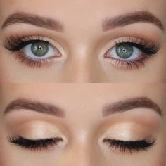 Do you love this moment for my bridesmaids - make up - . - Make-Up - Bird Makeup, Blue Eye Makeup, Cute Makeup, Bridal Makeup For Green Eyes, Simple Bridal Makeup, Light Eye Makeup, Gorgeous Makeup, Day Eye Makeup, Light Brow