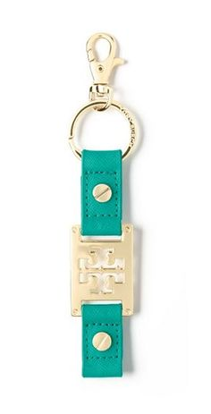 A stylish way to keep your keys together, the Tory Burch Logo key fob makes a great gift or stocking stuffer.