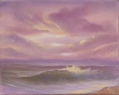 """""""Let There Be Light XI 8x10"""" small seascape oil painting on canvas"""" by Eva Volf. Oil painting on Canvas, Subject: Landscapes, sea and sky, Photorealistic style, One of a kind artwork, Signed certificate of authenticity, This artwork is sold unframed, Size: 25.4 x 20.32 x 1.78 cm (unframed), 10 x 8 x 0.7 in (unframed), Materials: oil, brushes, ready to hang, wired, back stapled canvas"""