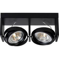 Lucide Plafondspot Zett 2 - Dimbare LED - Zwart
