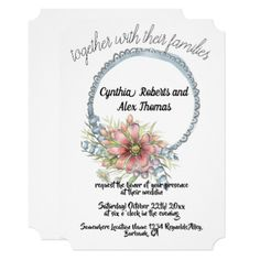 floral wedding card - invitations personalize custom special event invitation idea style party card cards