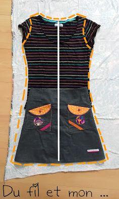 Du fil et mon. Social Platform, Athletic Tank Tops, Two Piece Skirt Set, Sewing, Crochet, Skirts, How To Make, Dresses, Women