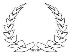 Oak leaf pattern use the printable outline for crafts for Laurel leaf crown template
