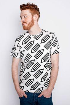 Ołówki Element Talks męska koszulka | Pan tu nie stał