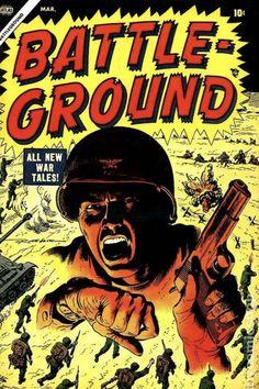 War Comics, Battle Ground, Comic Books Art, Book Art, Book Series, Lettering, Artist, Teacher, Posts
