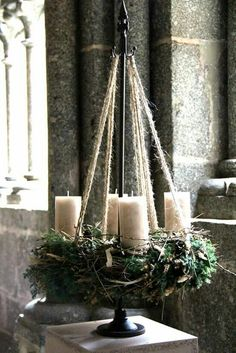 New Screen Advent Wreath green Popular Many chapels web host the Advent-wreath-making affair in the first Sunday on the season. Rustic Christmas, Christmas Home, White Christmas, Christmas Holidays, Christmas Wreaths, Christmas Crafts, Advent Wreaths, Christmas Tables, Nordic Christmas