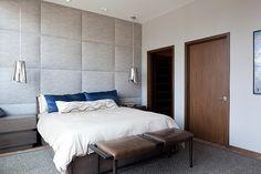 downtown loft / masculine bedroom