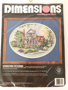 #Dimensions Springtime Victorian NIP Counted Cross Stitch KIt 1994 Marty Bell #Dimensions #martybell #crossstitch