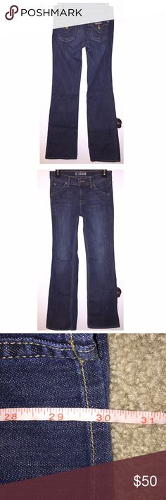 "Hudson Jeans Hudson Jeans in big girl size 14 fit EXACTLY like a women's size 23! These have a 30"" inseam, are low rise and fit like a glove. Beautiful dark wash!!! My newest favorite pair of jeans right now, so...price firm :)❤️ Hudson Jeans Bottoms Jeans"
