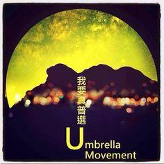 Umbrella Revolution Hong Kong, Poster created by hong konger for Umbrella Movement, it is ART.