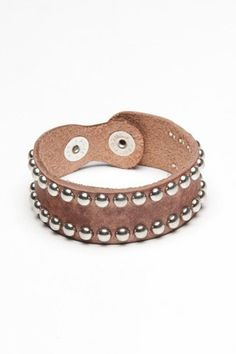 Studded Leather Cuff :}