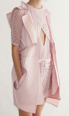 "Vera Wang,  SS12... makes me think of the movie ""pretty in pink"", where the girl makes her prom dress!"