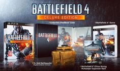 This is the delux edition of battlefield 4 which comes with the steel case battlefield 4 edition of the game, 3 gold battlepacks for in game bonuses and the china rising DLC.