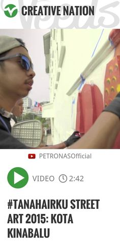 #tanahairku 2015 Street Art is an extension of PETRONAS' National Day and Malaysia Day campaign. Inspired by the late Usman Awang's famous poem titled Tanah Air, PETRONAS embarked on a collaboration.. | http://veeds.com/i/gIvqSBntcpTBYWyu/creativenation/