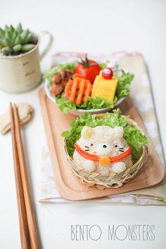 Bento, Monsters: Summikko Gurashi & Fortune Cat Bento