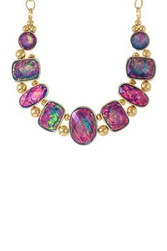Live Colorfully: Bold Jewelry Shop Abalone Shell Bib Necklace