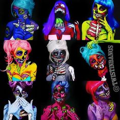 decided to make a collage of all my zombie bitches and its kinda cool seeing all of them together like this! i see SO many talented artists who do badass popart zombies on here and every artist has a totally different style, its so much fun to see what people come up with! im still not out of ideas for my living dead girls but imma give em a rest for now:)