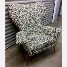 Jaguar Print Upholstered Chair now featured on Fab.