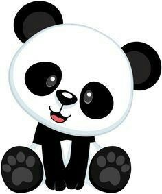 pin by astrid on dibujos pinterest rock painting clip art rh pinterest com cute panda bear clipart cute panda bear clipart