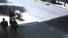 Greater Manchester Police arrest a man for stealing a bicycle in central Manchester in 2013. After a spate of thefts at a location on Corporation Street, officers were posted to keep watch. All too soon an offender came along to steal a bike. He was wrestled to the ground and arrested as he tried to escape. He was later sentenced to 18 weeks in prison. www.gmp.police.uk