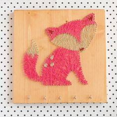 Key jewelry holder fox decor wood wall decor Fox by GoodLights