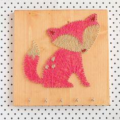 Key jewelry holder fox decor wood wall decor Fox by GoodLights