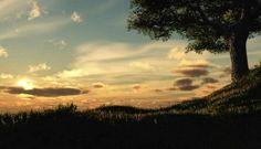 Sunset Digital Blasphemy Wallpaper HD Big Tree 1280x800px Resolution