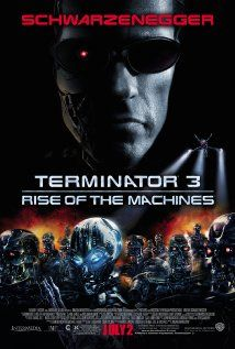 """""""Terminator 3: Rise of the Machines.""""  John Connor is now in his 20's, and a female terminator, called T-X or Terminatrix, is after him. Another T-101 is sent back through time to protect John once again on the verge of the rise of the machines."""