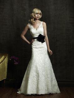 Vestido de noiva preto e branco