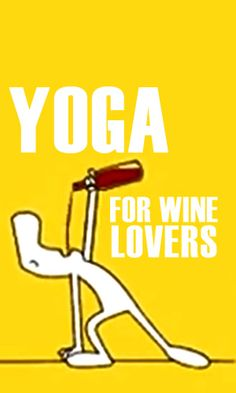To celebrate the coming together of the mind body and 'spirit', watch this funny cartoon animation of a wine lover doing yoga.