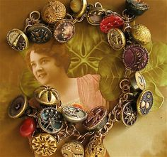 Lucky horseshoe buttons 1800's vintage button by AlliesAdornments