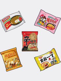 Food Stickers, Kawaii Stickers, Journal Stickers, Printable Stickers, Cute Stickers, Menu Illustration, Food Illustrations, Cute Food Art, Cute Art