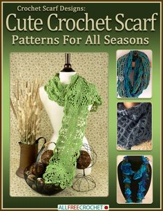 Find cute #crochet scarf patterns in the comfort of your home. Crochet scarf designs can be worn all year long to help accessorize the perfect outfit. Download your free copy today!