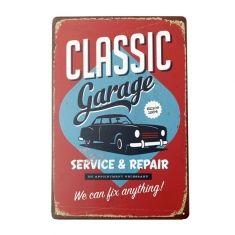 Clássico garagem Placa de lata de placa de metal do vintage decoração home da parede bar poster pub