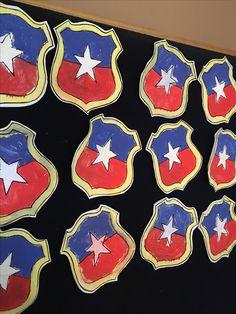 Escudo chileno simple en témpera
