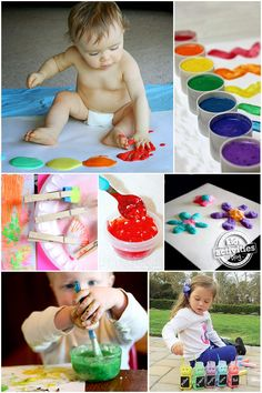 Art For Kids – 15 Homemade Paint Recipes {and funky brushes} these are SO fun!!!