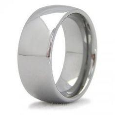 Mens Dome 8mm Tungsten Carbide Engagement Ring