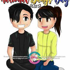 AlDub @team_aldub: National Bangs Day! Maine Mendoza, Alden Richards, Philippines, Bangs, Fringes, Bangs Hairstyle, Pony