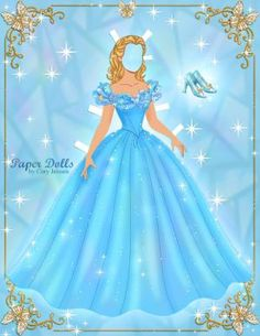 Free Printable Cinderella Paper Dolls by Cory | SKGaleana
