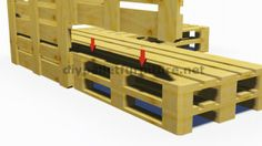 Instructions et plans 3D de la façon de faire un canapé pour le jardin avec des palettes 6