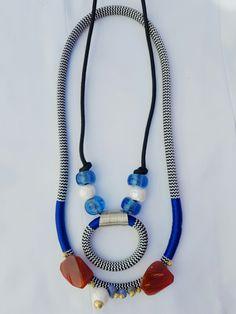 Elizabeth Morr Stone range  (Rope necklace) Rope Necklace, Beaded Necklace, Range, Stone, Kids, Crafts, Jewelry, Fashion, Necklaces