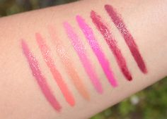 butter London-  Bloody Brilliant Lip Crayon swatches and review.