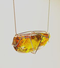 GEOAmber Collection Amber. Authentic Polish Amber. 14K Gold (585).