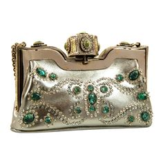 1stdibs - Valentino SIlver and Jeweled Evening Bag explore items from 1,700  global dealers at 1stdibs.com