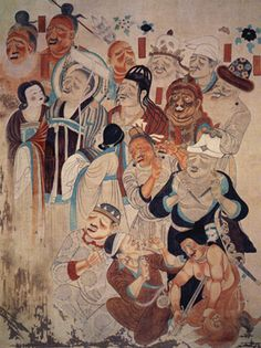 Spread of Buddhism - art from Central Asian states, Dunhuang Cave 158.