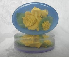 Yellow Rose Bouquet Soap with natural colors by PureHeartSoap,