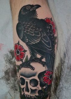 raven tattoos | As we have already mentioned, raven tattoos depict a variety of ... #tattoosonbackskull