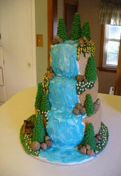wedding cakes with waterfalls 1000 images about scenery cakes on waterfall 26134