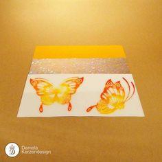 Verzierwachsfolien Set Schmetterling gelb - orange Orange, Madness, Wax, Yellow